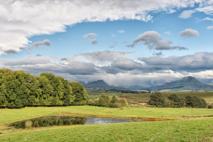 Landscape on P317-road to Garden Castle in the Drakensberg