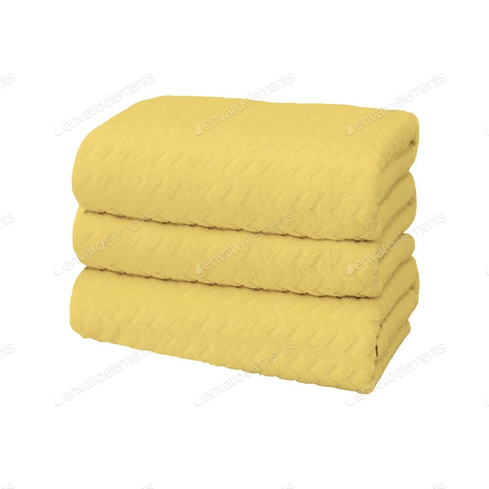 Yellow towel isolated