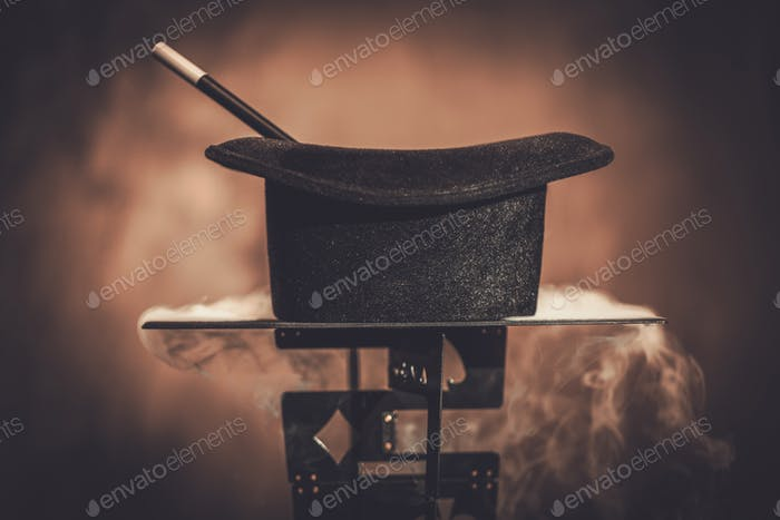 Top hat and a magic wand
