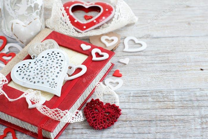 Valentine day composition
