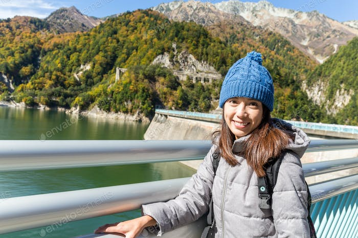Woman in Kurobe dam