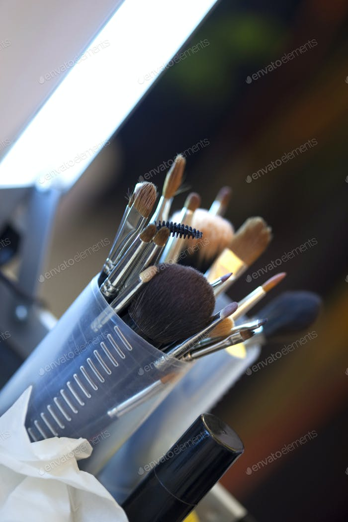 Brushes and cosmetics