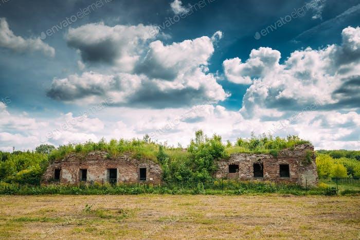 Brest, Belarus. Ruins Of The Bernardine Monastery In Brest In Su