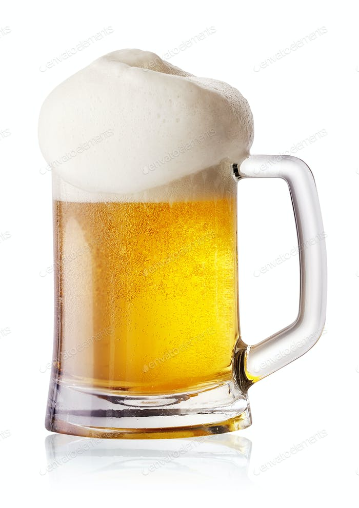 Round light beer mug