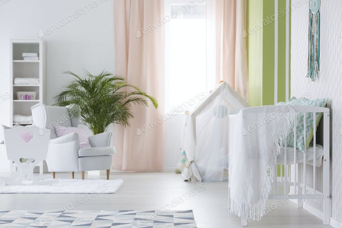 White interior of room