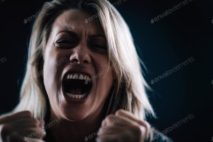 Anger Management Subject – Close-up image of clenched fists