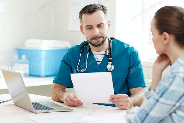 Appointment with patient