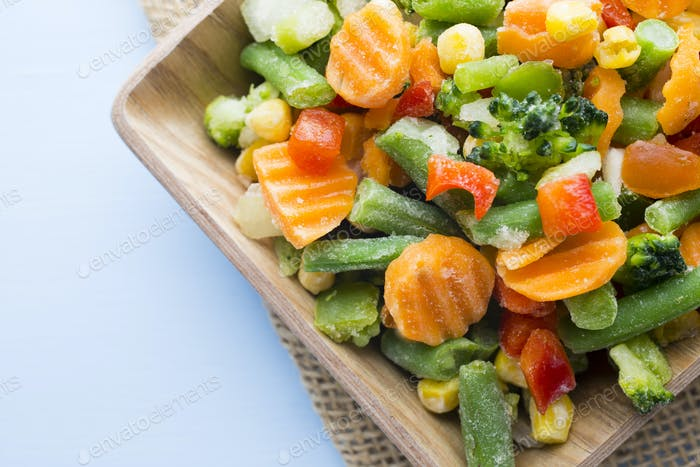 Frozen vegetables.