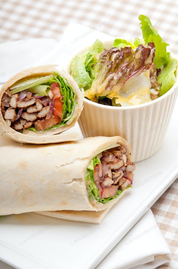 kafta shawarma Huhn Pita Wickelrolle Sandwich