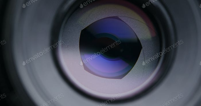 Taking photo by changing aperture
