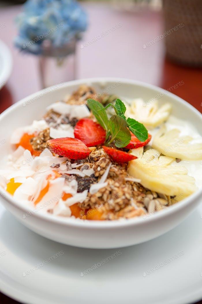 Diet morning breakfast.