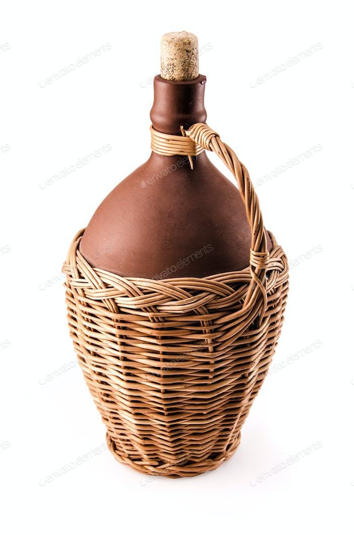 ceramic wine bottle
