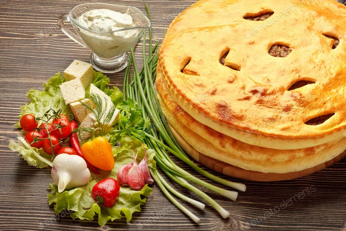 Ossetische Kuchen.