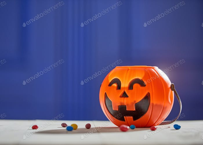Pumpkin with candy