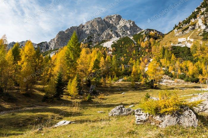 Sunny day in Slovenia Julian Alps