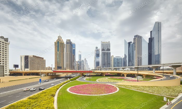 View of the downtown Dubai, United Arab Emirates