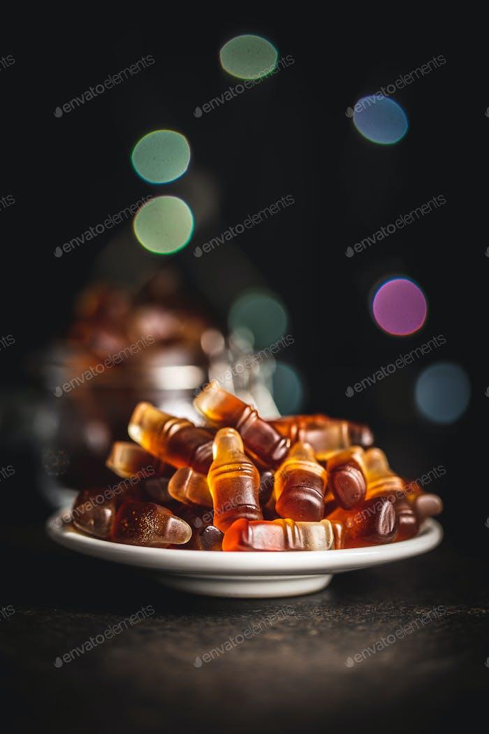 Gelee-Bonbons mit Cola-Geschmack.