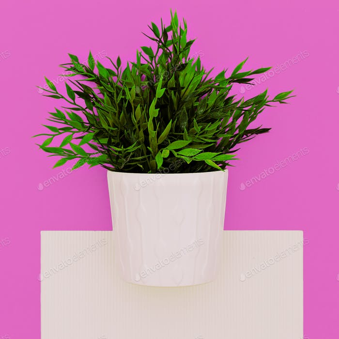 Artificial houseplant. Home decor. Minimal art