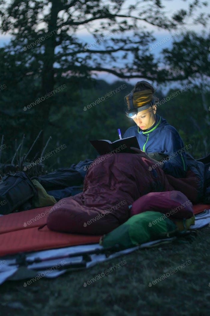 camping writing journal
