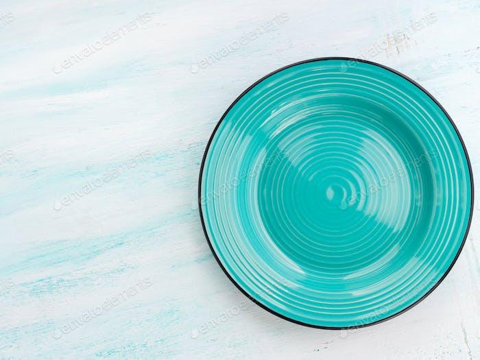 Pastel Color ceramic plate dish top view