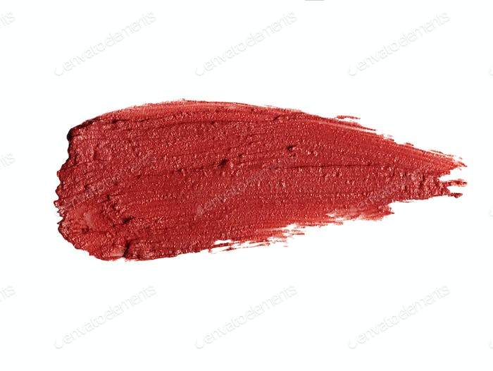 Lipstick color sample