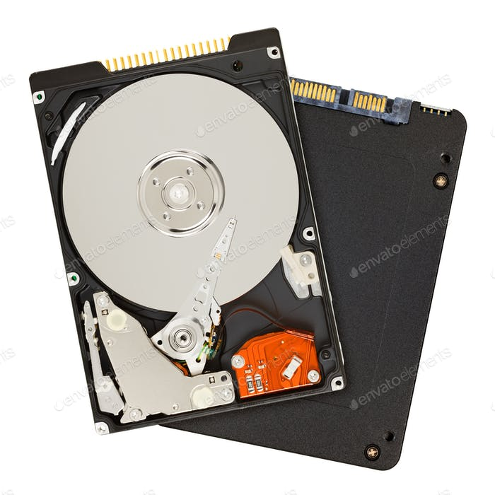 SSD and HDD hard drives
