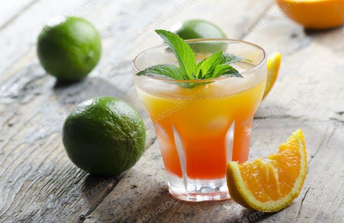Orange fruit cocktail