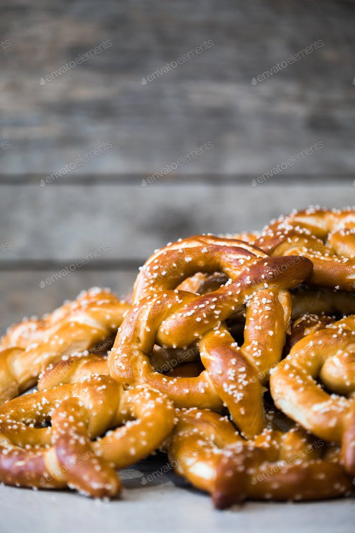 Stack of Fresh Pretzels