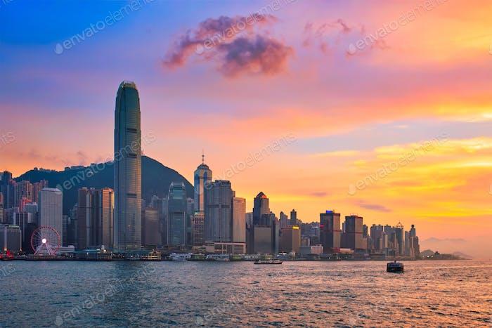 Junkboot in Hong Kong Victoria Harbour