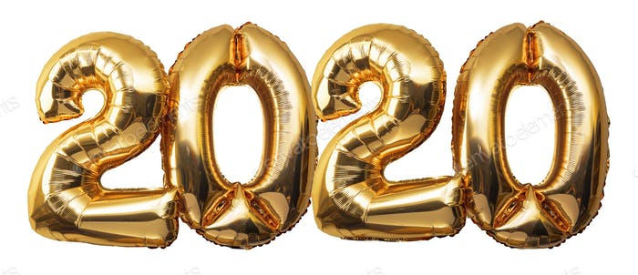 Christmas New Year 2020 Numbers Balloons