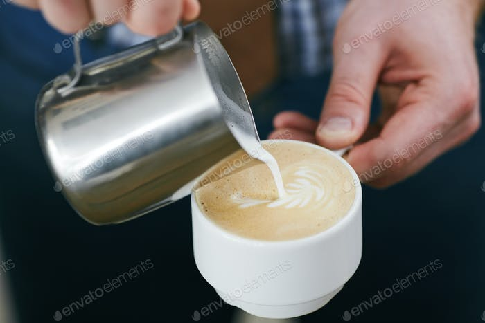 Making latte