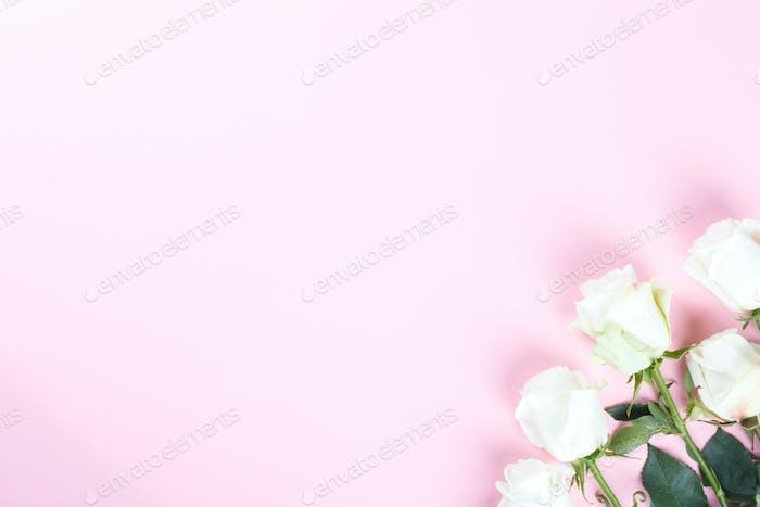 Composición de flores. Regalo de Navidad Día de Valentín