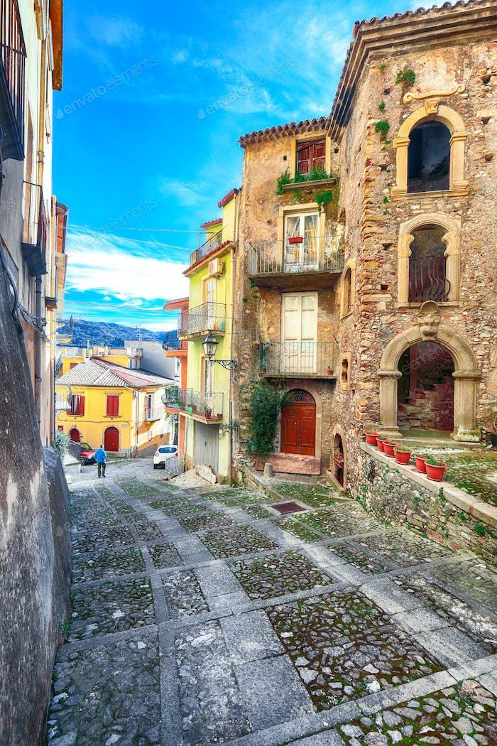 Mountain village Novara di Sicilia, Sicily, Italy