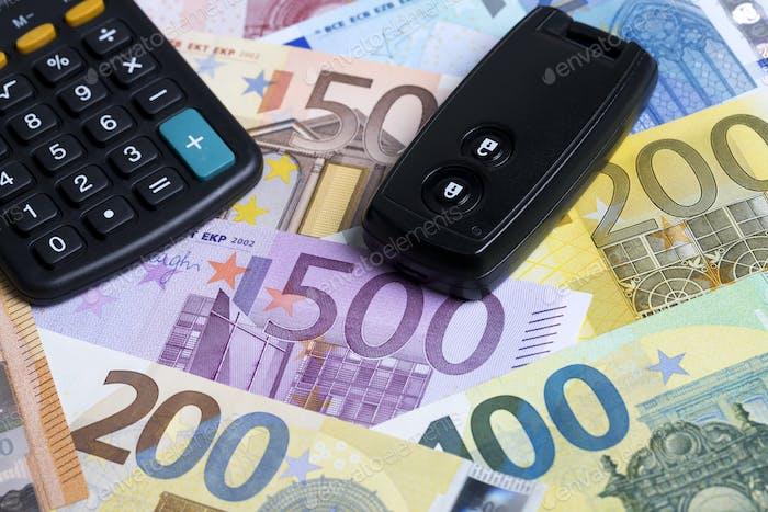 La llave del coche en un contexto monetario europeo
