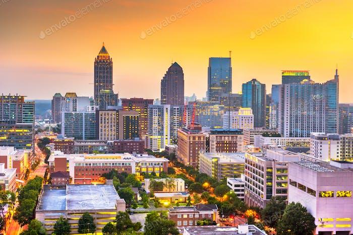 Atlanta, Georgia, USA Downtown Cityscape