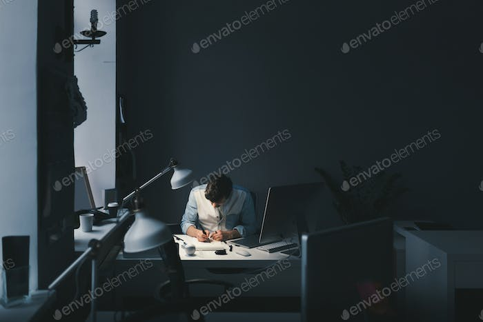 Designer at work in office