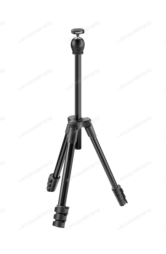 photo tripod isolated on white
