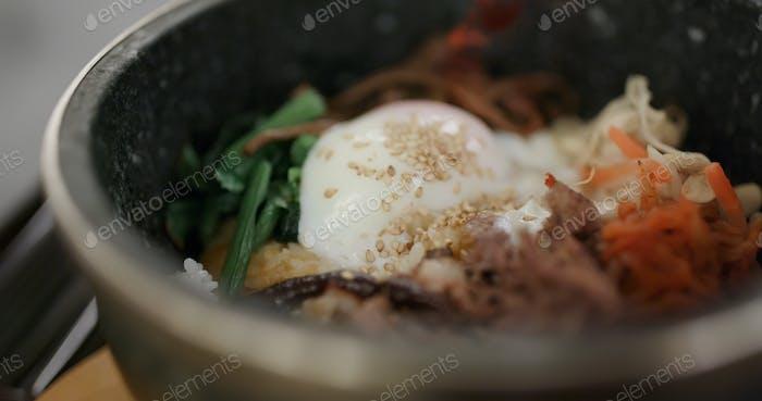 Korean kimchi on plate