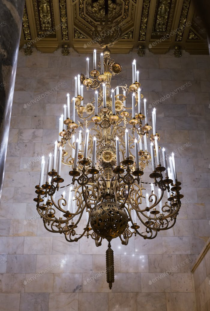 bronze candle chandelier