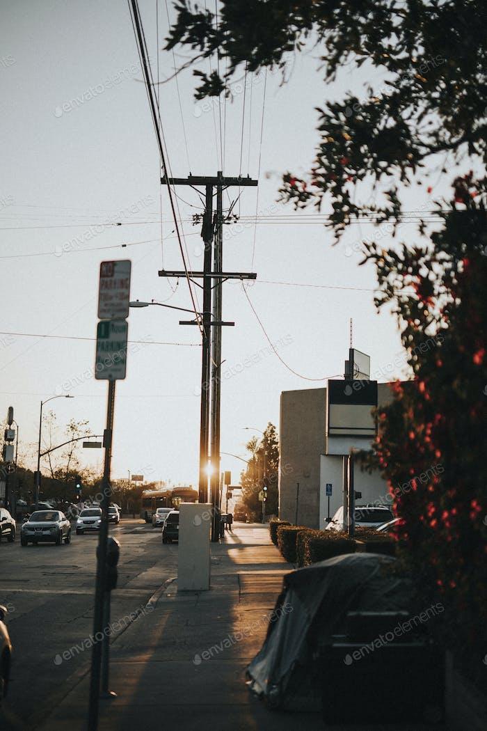 Stadtmitte in Los Angeles, Kalifornien