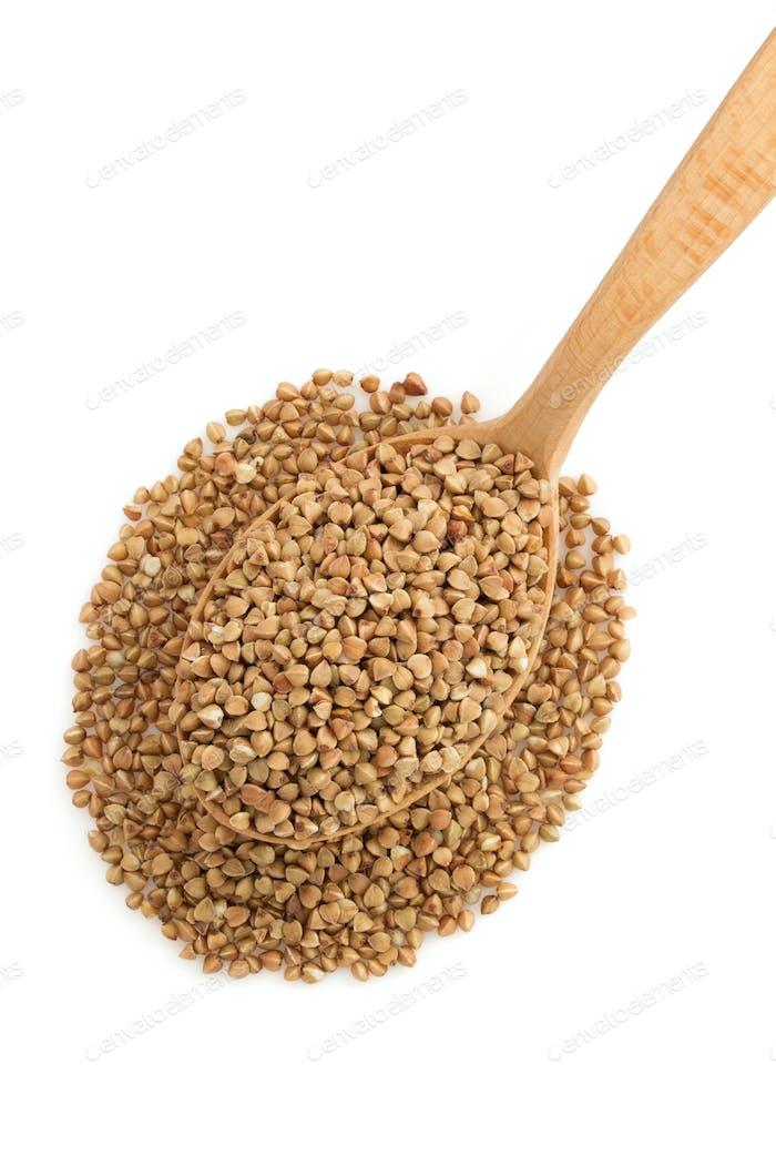 buckwheat in spoon