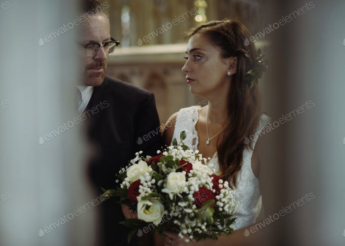 Anxious bride having second thoughts