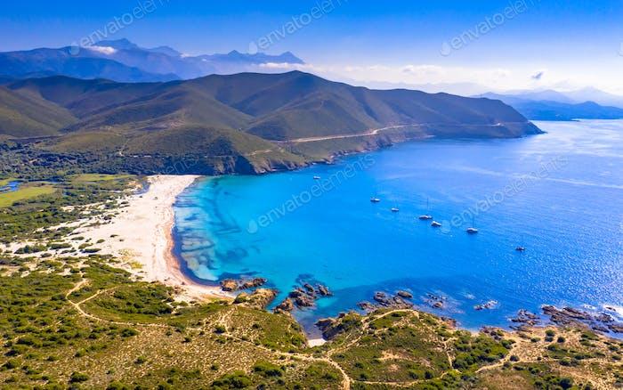 Luftbild Ostküste von Korsika