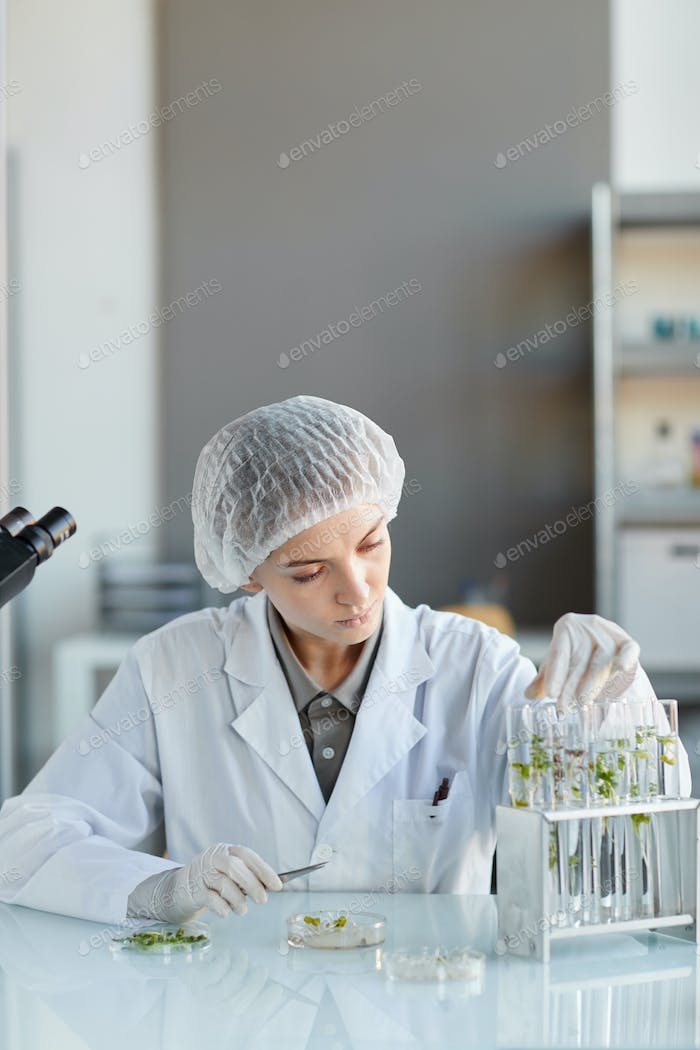Female Scientist Working in Bio Laboratory