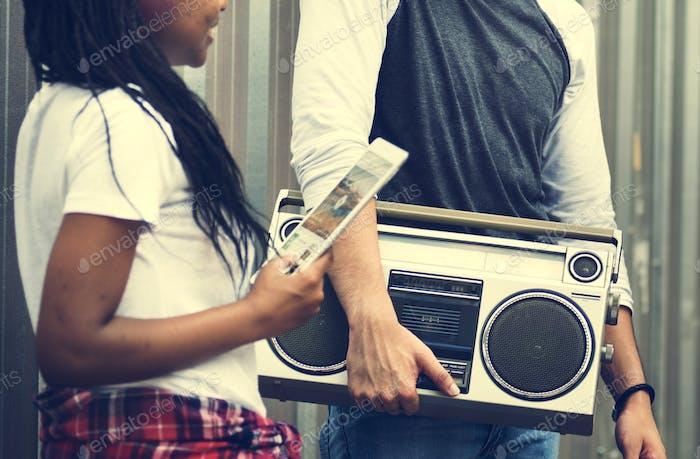 Radio Audio Music Melody Rhythm Retro Leisure Concept