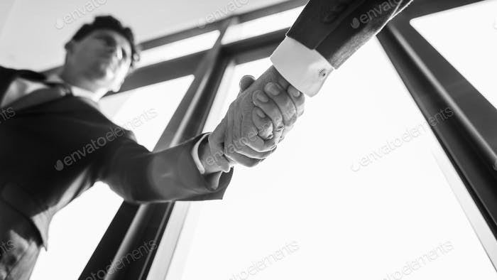 Businessman Handshake Corporate Colleagues Concept