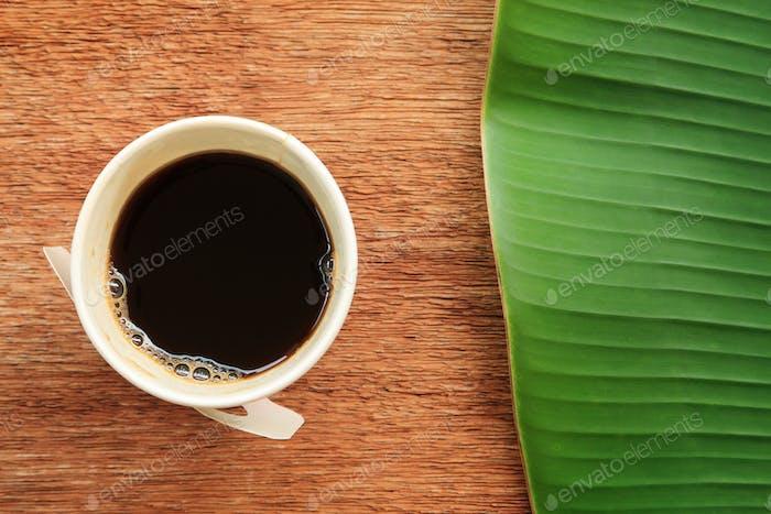 Espresso in paper cup