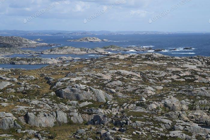 Meerblick in Lindesnes, Norwegen