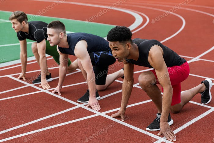 Multiethnische Sportlergruppe