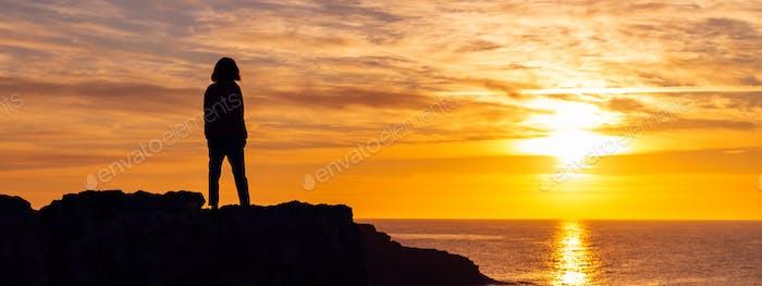 Sunrise Silhouette of woman